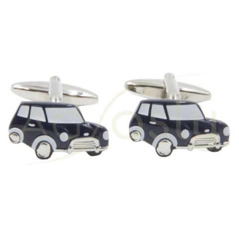 Gemelos en forma de coche modelo Mini color Marino