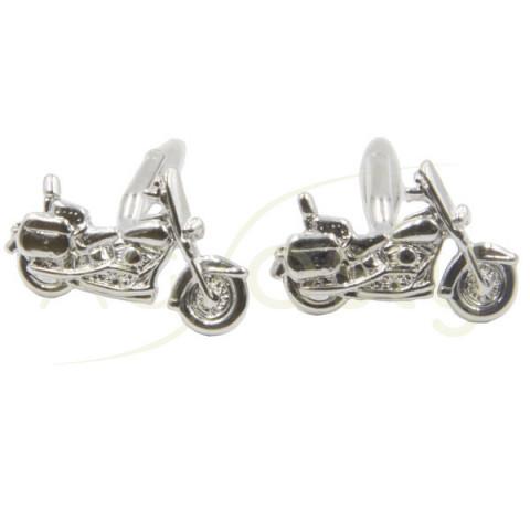 Gemelos en forma de moto Harley Davidson