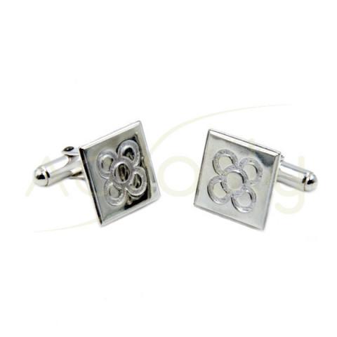 Gemelos de plata diseño baldosa de barcelona