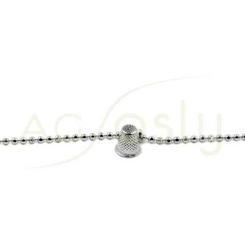 Pulsera de plata con dedal mini