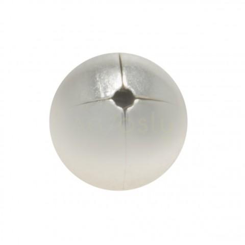 Bola de plata de 1 agujero. 7mm
