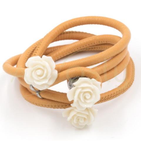 Pulsera/collar de pieal con 3 rosas