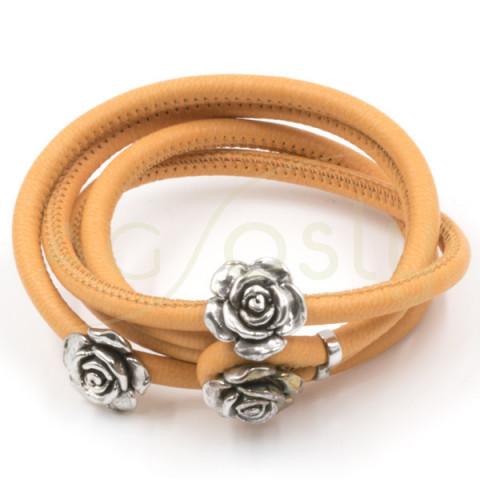 Pulsera/collar camel 3 rosas