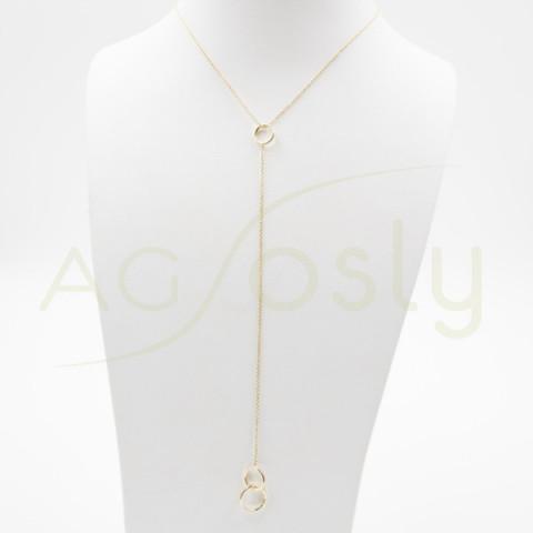 Collar dorado corbatero con anillas