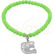 pulsera de bolas verdes con elefante