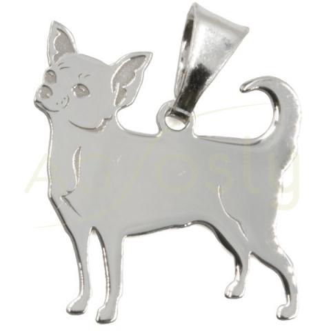 Colgante de plata modelo en forma de Chiuaua