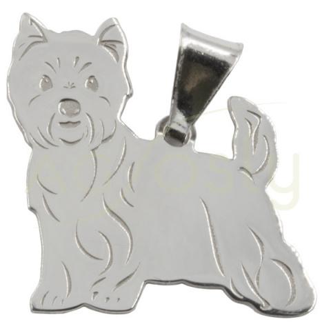 Colgante de plata modelo en forma de perro Westie