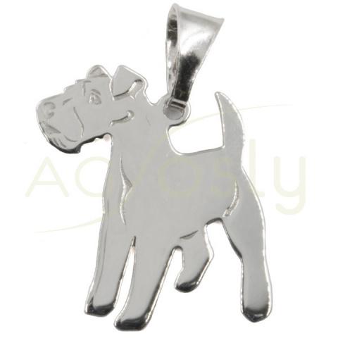 Colgante de plata modelo perro Irish Terrier