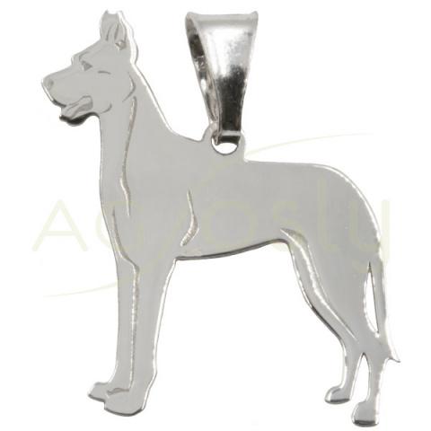 Colgante de plata modelo perro Gran Danes