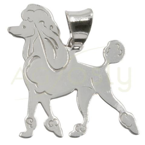 Colgante de plata modelo perro Marilin