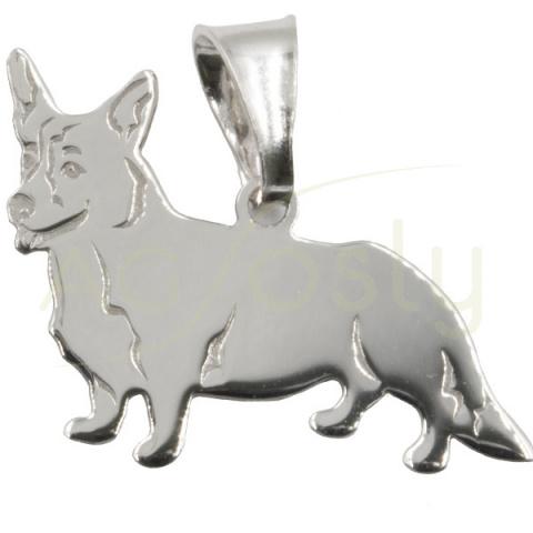 Colgante de plata modelo perro pequeño