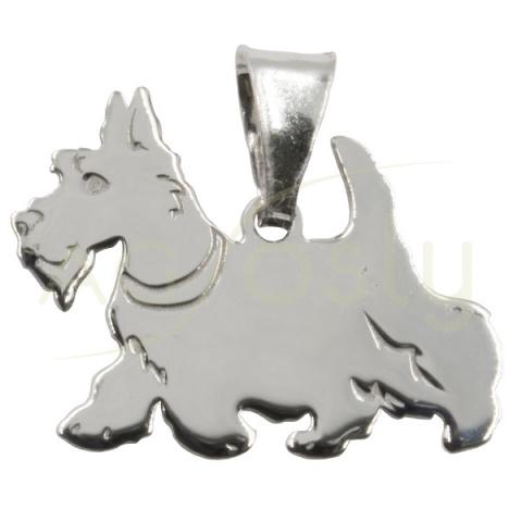 Colgante de plata perro - Salchicha