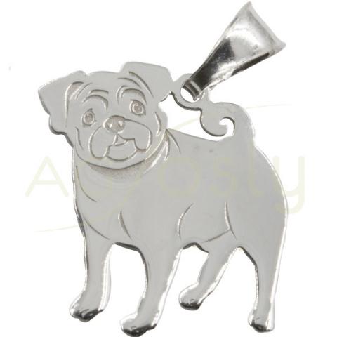 Colgante de plata en forma de perro Carlinho