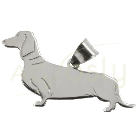 Colgante de plata en forma de perro Basoto
