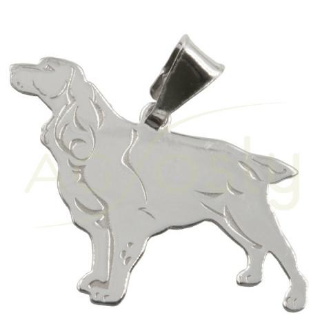 Colgante de plata perro - Cocker