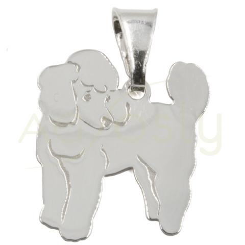 Colgante de plata perro - Caniche