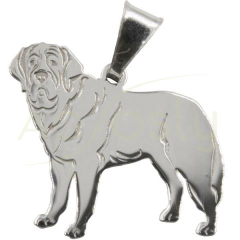 Colgante de plata perro - Mastin