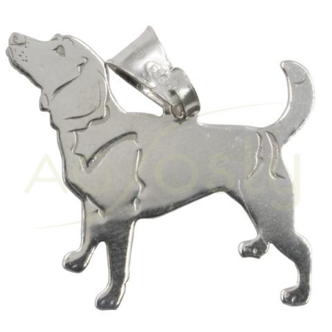 Colgante de plata perro - Seter