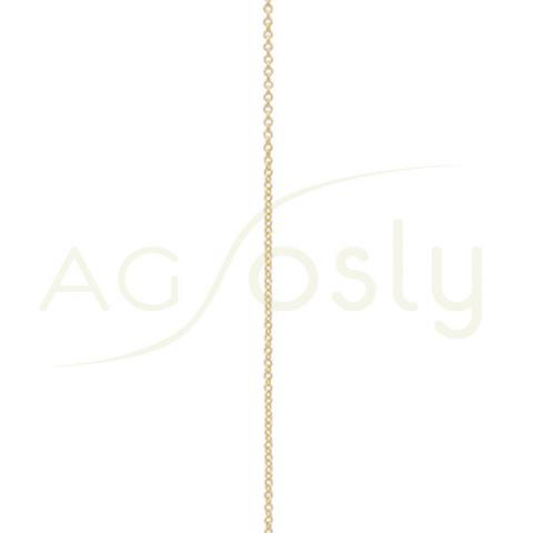 Cadena Forzada de oro modelo KF25G en 40cm