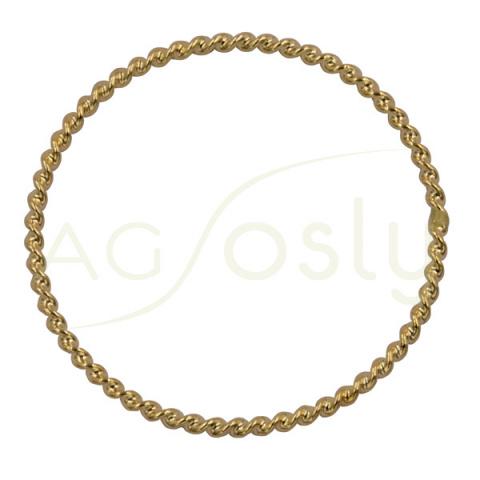 Anillo de oro modelo trenzado fino