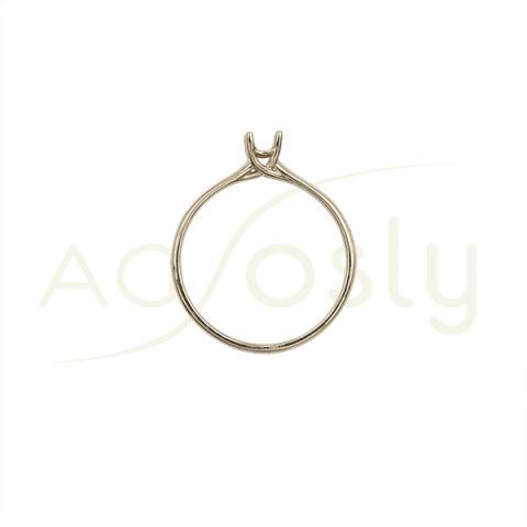Montura base solitario estilo Tiffany en oro blanco para piedra de 0,15ct