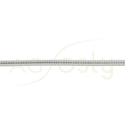 Cadena omega rigida de 3mm acabada en 42cm