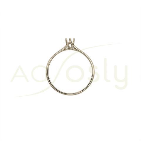 Montura en oro blanco estilo Tiffany para solitario de 0,15ct
