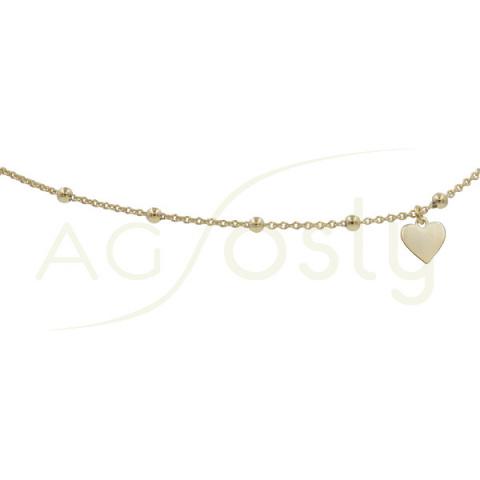 Tobillera rosario con corazón