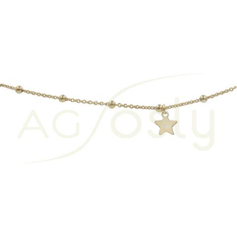 Tobillera rosario con estrella