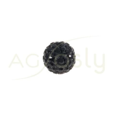 Bola cristales negro.8mm
