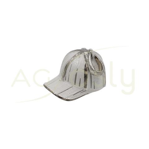 Colgante de plata Gorra Blanca de 18MM