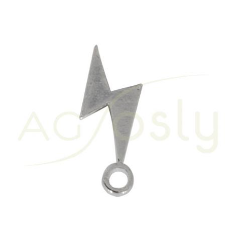 Entrepieza de plata con forma de rayo