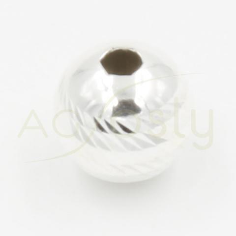 Bola diamantada de plata, 10mm diámetro exterior