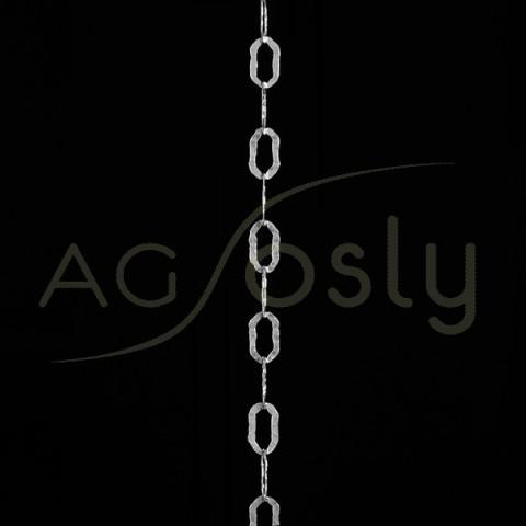 Cadena de plata modelo fantasía con textura a metros