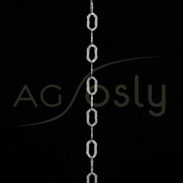 Cadena de plata modelo fantasía con textura.(a metros)