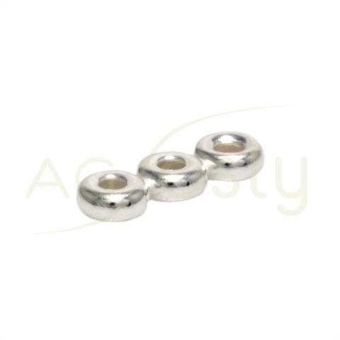 Entrepieza separador anillas 3 filas.14 x 4 mm