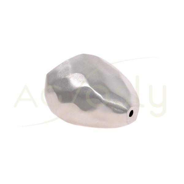 Pieza de montaje en plata rodiada, modelo piedra.32mm Int.3,5mm